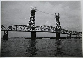 James River Bridge - The original James River Bridge, circa 1960.