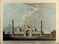 Jami Masjid mosque, Delhi. Coloured aquatint by Thomas Danie Wellcome V0050482.jpg