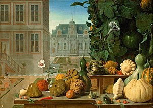 Jan Anton van der Baren - Still life with pumpkins