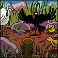Jataka, La chouette et le corbeau - 6.jpg