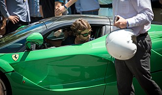 Jay Kay - Kay with his green LaFerrari at the 2014 Goodwood Festival of Speed