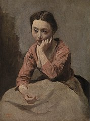 Pensive Young Woman (Jeune femme pensive)