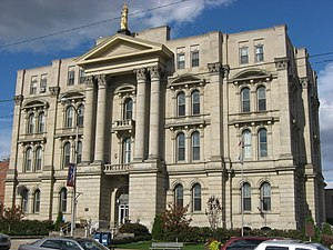 Jefferson County, Ohio - Image: Jefferson County Courthouse in Steubenville