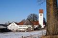 Jengen - Eurishofen Nrn 2 u 1 u Kirche v S.JPG