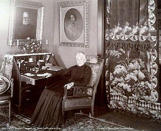 Jessie Benton Frémont - Frémont sitting at home in Los Angeles