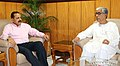 Jitendra Singh meeting the Chief Minister of Tripura, Shri Manik Sarkar, in Agartala.jpg