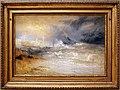 Jmw turner, onde che si frangono su una spiaggia sottovento a margate (studio per scogli e luci blu), 1840 ca.jpg