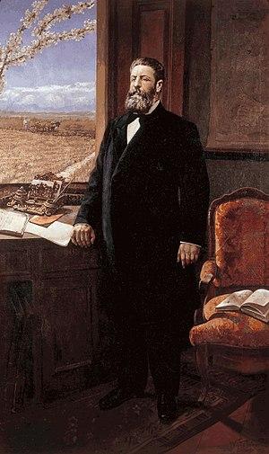 Joaquín Costa - Portrait of Joaquín Costa by Victoriano Balasanz