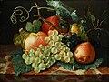 Johann Amandus Winck - Früchtestillleben mit Äpfeln, Birnen und Weintrauben auf Marmorplatte.jpg