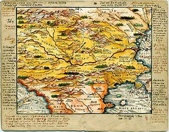 Vlachs - Map of Central/Southern Europe during the Late Middle Ages/Early Modern period by Johannes Honterus