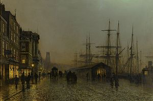 John Atkinson Grimshaw - Glasgow, Saturday Night