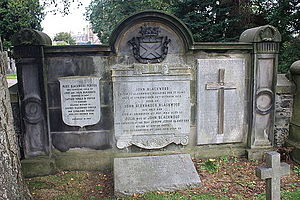 John Blackwood (publisher) - John Blackwood's grave, Dean Cemetery