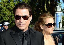 John Travolta con la moglie Kelly Preston al Festival di Cannes 2014