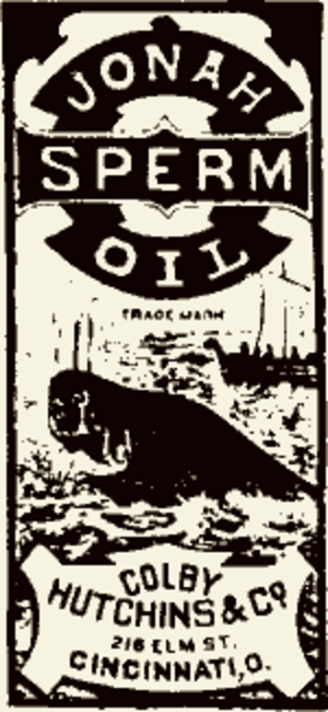 Whaling in the United States - Jonah Sperm Oil, an old label