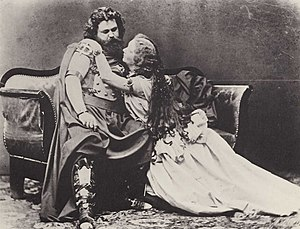 Ludwig Schnorr von Carolsfeld - Ludwig and Malvina (or Malvine) Schnorr von Carolsfeld costumed as Tristan and Isolde