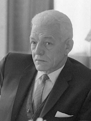 Juan Bosch, the first democratically elected president after the regime of Rafael Trujillo Juan Bosch (1963).jpg