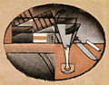 Juan Gris, 1912, Les Cigares (The Packet of Cigars), oil on canvas, 22 x 28 cm, private collection.jpg