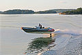 Jumping speedboat swells in Stockholm archipelago.jpg