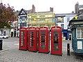 K6 Telephone Kiosks, Market Place, Ripon (geograph 6040417).jpg