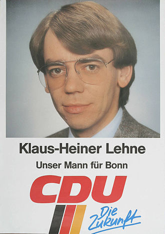 Klaus-Heiner Lehne -  Candidadature poster for the 1987 Bundestag election