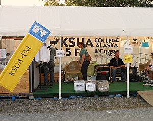 KSUA - KSUA booth at the 2012 Tanana Valley State Fair.