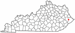 Location of Coal Run Village, Kentucky