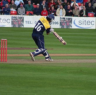 Kadeer Ali - Ali hitting a Somerset County Cricket Club bowler for six at Taunton on 27 June 2007