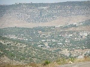 Kafr Rumman - Kafr Rumman, seen from the Israeli settlement of Einav