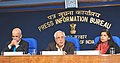 Kapil Sibal addressing the Press on telecom issues, in New Delhi. The Secretary (Telecommunications), Shri R. Chandrashekhar and the Principal Director General (M&C), Press Information Bureau.jpg