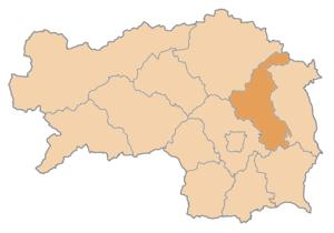 Weiz District - Image: Karte Aut Stmk WZ
