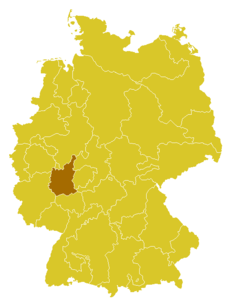 Map of the Diocese of Limburg