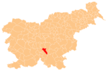 The location o the Municipality o Dobrepolje