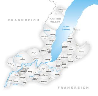 Cartigny, Switzerland - Image: Karte Gemeinde Cartigny