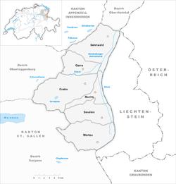 Vị trí của Huyện Werdenberg