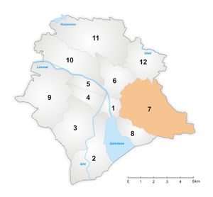 District 7 (Zürich) - Image: Karte Zürcher Stadtkreis 7