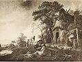 Katalog der Sammlung Baron Königswarter in Wien - II. Abteilung- Gemälde alte Meister. Isaac van Ostade - Die Rast vor der Dorfschenke (14783884743).jpg