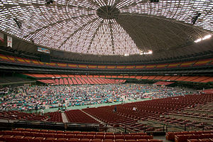 Federal Emergency Management Agency - Evacuees taking shelter at the Astrodome in Houston, Texas