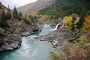 Kawarau River with Roaring Meg.jpg