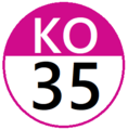 Keio KO35 station number.png