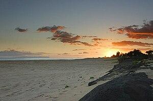 Kekaha, Hawaii - Kekaha Beach at sunset