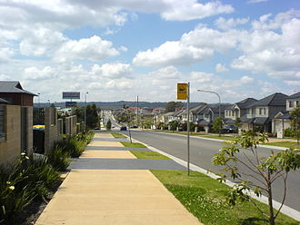 Kellyville, New South Wales - Low-density residential housing adjacent to Kellyville Shopping Plaza
