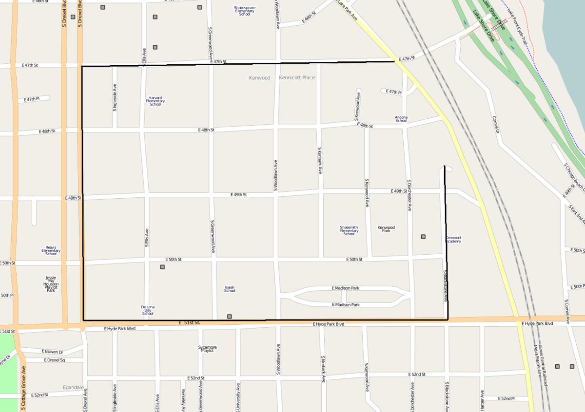 Kenwood District Wikipedia - Kenwood chicago map