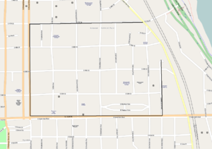 Kenwood District - Kenwood District map (northeast boundaries are left undefined at City of Chicago page)