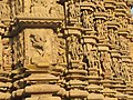 Khajuraho India, DulaDeo Temple, Sculptures Outer Wall 02 - Photographed 10-March-2012.JPG