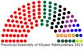 Khyber Pakhtukhawa Assembly 2013 Seating Chart.png