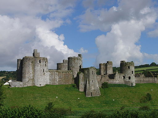 Kidwelly castle whole