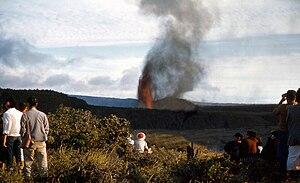 Kīlauea Iki - Pu'u Pua'i fountaining event, Oct. 1959