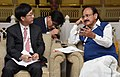 Kim Kyung-Hwan meeting the Union Minister for Urban Development, Housing & Urban Poverty Alleviation and Information & Broadcasting, Shri M. Venkaiah Naidu.jpg