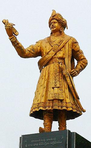 Rajaraja Narendra - Statue of King Rajaraja Narendra founder of Rajahmundry city