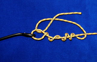 Improved clinch knot hitch knot
